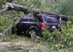 Hurricane car damage