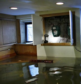 Photo of a flooded basement