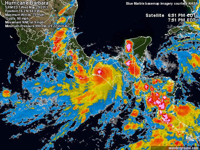 tropical storm barbara