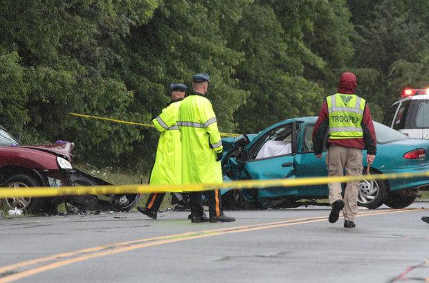 car accident- tropical storm andrea