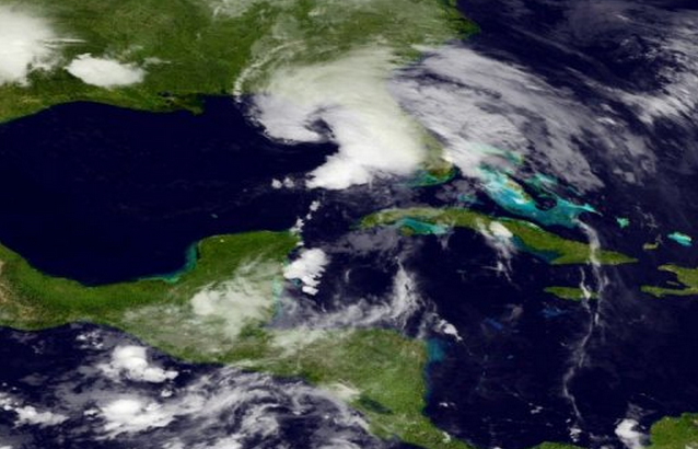tropical storm andrea satellite