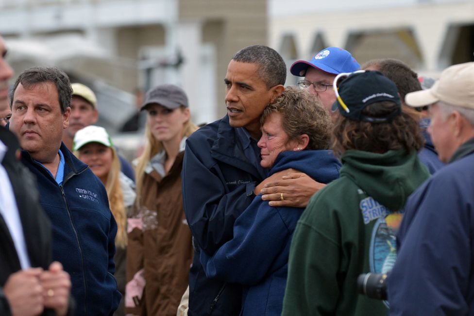 President Barack Obama and Governor Chris Christie during the aftermath of Hurricane Sandy