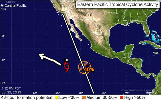 Forecast of Tropical Storm Gil