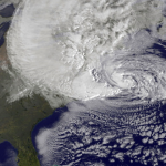 hurricane sandy satellite view- costliest hurricanes in atlantic
