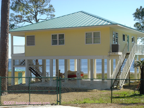 constructing a hurricane-proof home- home on stilts