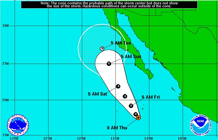 tropical depression nine-e