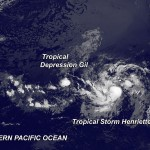 tropical depression gil, tropical storm henriette