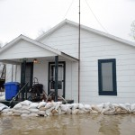 reduce flood damage with sandbags