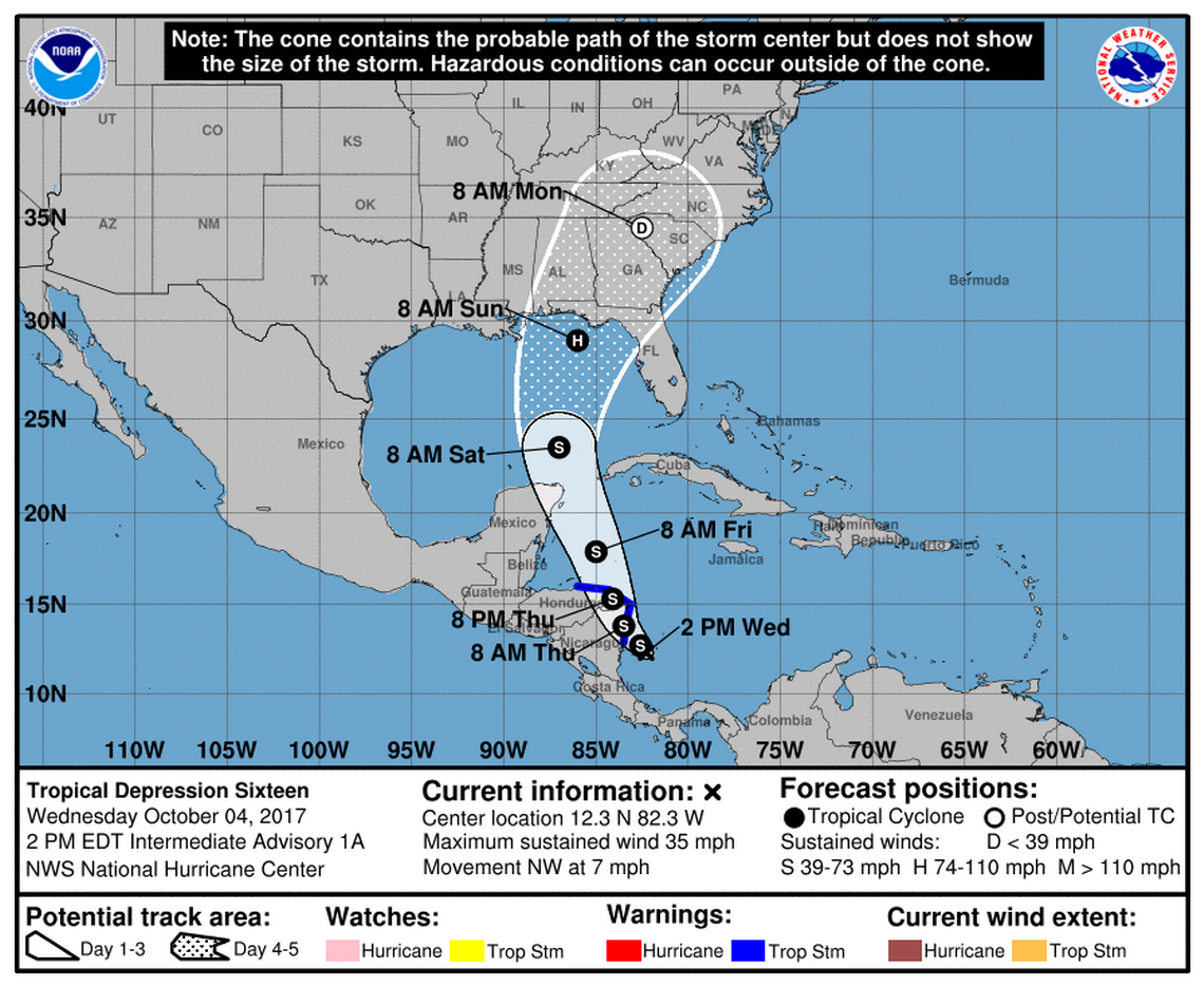 Season S 14th Named Storm Forms National Hurricane Center